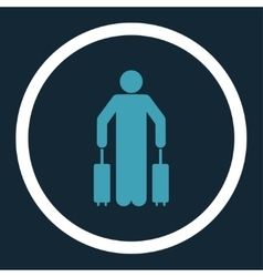Passenger baggage icon vector