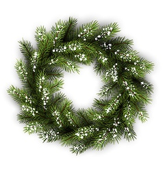 Card with christmas wreath vector