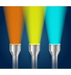 Three pocket torch light vector