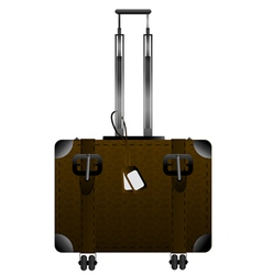 Big leather luggage vector