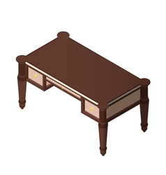 Luxury wooden desk vector