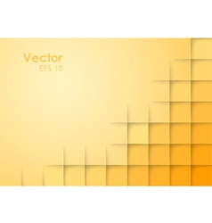 Abstract Square Orange Background vector image