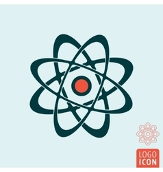 Atom icon isolated vector