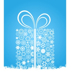 christmas gift of snowflakes vector image vector image