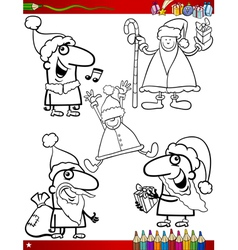 Christmas themes coloring page vector