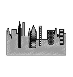 Cityscape skyline isolated icon vector