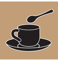 Cup And Teaspoon vector image