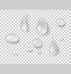 Different shapes of raindrops vector