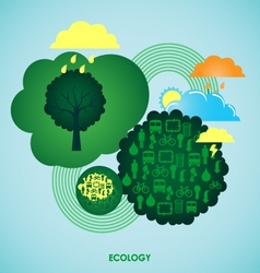 Ecology background vector image vector image