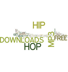Free hip hop mp download text background word vector