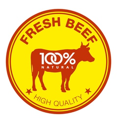 Fresh beef label vector image