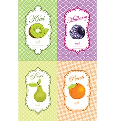 Fruit retail sticker vector image vector image