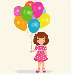 Girl with balloons vector image