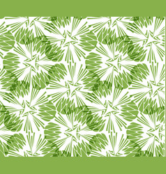 greenery taraxacum seamless pattern background vector image