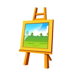 Icon easel vector