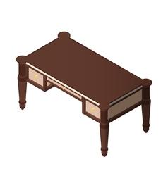 Luxury wooden desk vector