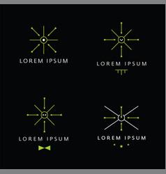 Modern vintage minimal logo target concept vector