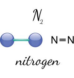 N2 nitrogen molecule vector