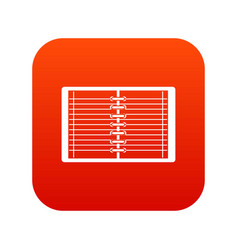 open spiral lined notebook icon digital red vector image