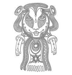 ornate doodle fantasy monster vector image vector image