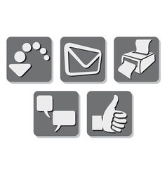 Printer icon - print button vector