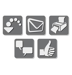 printer icon - print button vector image vector image
