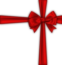 Red Satin Ribbon and Bow Isolated vector image vector image