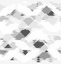 Repeating grey pattern with geometric shapes vector