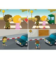 Road crossing vector image vector image