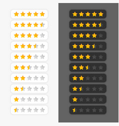 Set of star rating symbols vector