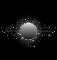 silver circle shield vector image