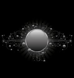 silver circle shield vector image vector image