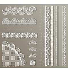 Straight lace set vector image vector image