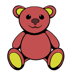 Teddy bear icon icon cartoon vector