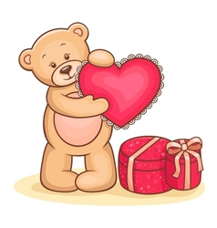 Teddy Bear with heart vector image vector image