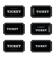 Ticket movie set vector