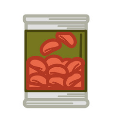 tinned red beans vector image