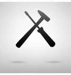 Tools black icon vector