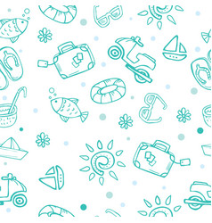 Travel theme seamless pattern vector