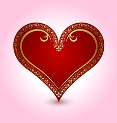valentines heart with ornaments vector image vector image
