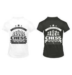 vintage chess prints on shirts template vector image vector image