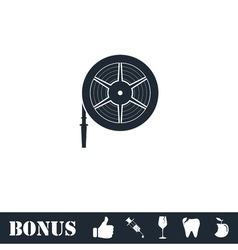 Water hose icon flat vector image