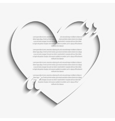 Quote heart blank template bracket vector