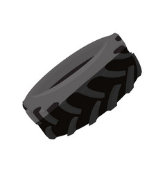 Truck tire isolated vector