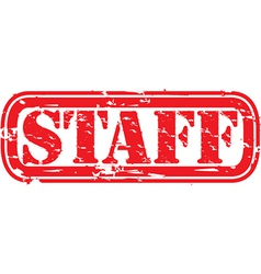 Staff stamp vector