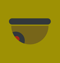 Flat icon on background security camera vector