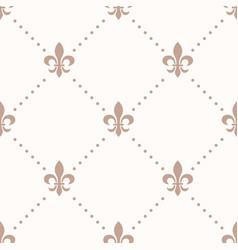 Fleur de lis sign and dot seamless pattern vector