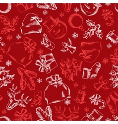 Merry christmas hand drawn seamless pattern design vector