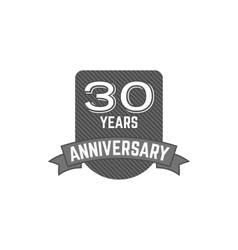 30 years Anniversary badge sign and emblem with vector image vector image