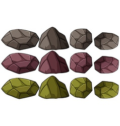 Group of rocks vector